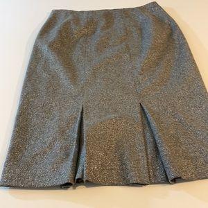 Eccoci Inverted Pleat Wool skirt